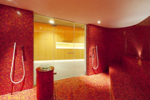 Glass mosaic steam rooms