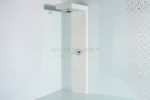 tiled shower